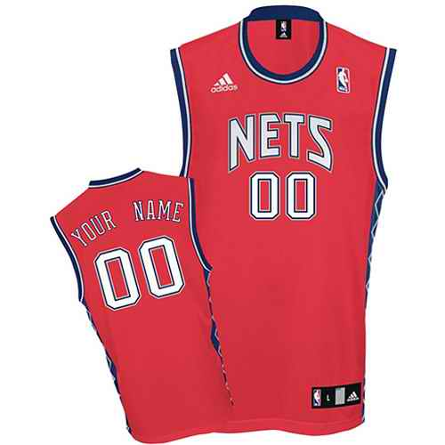 New Jersey Nets Youth Custom red round-neck Jersey