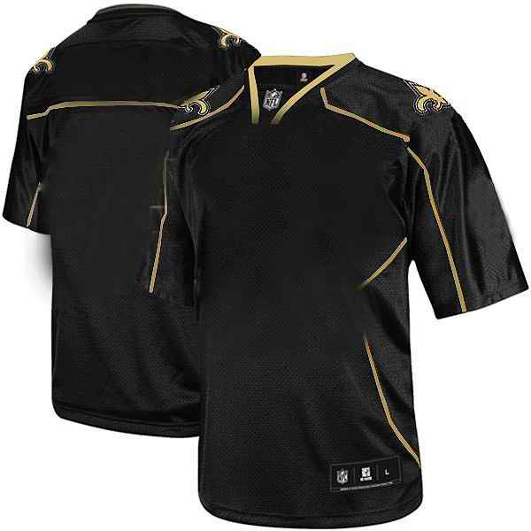 New Orleans Saints Men Customized black field shadow Jersey