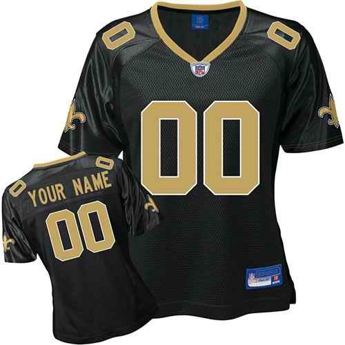 New Orleans Saints Women Customized Black Jersey