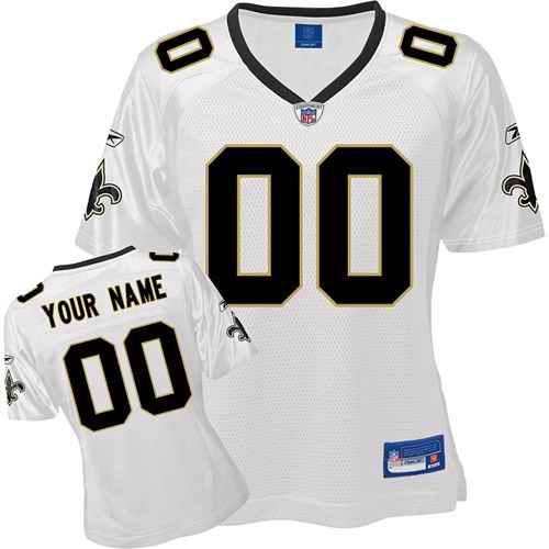New Orleans Saints Women Customized White Jersey