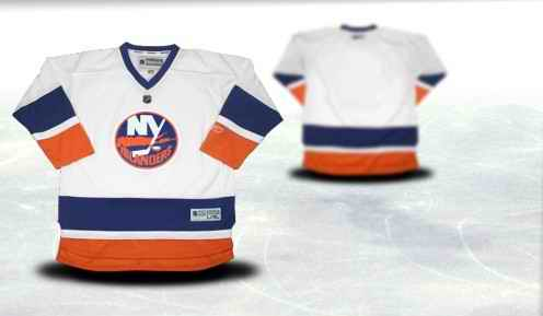 New York Islanders Youth Customized White Jersey