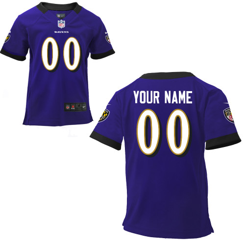 Nike Baltimore Ravens Infant Customized Game Team Color Jersey