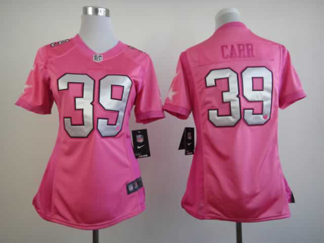 Nike Cowboys 39 Carr Pink Love's Women Jerseys