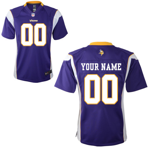 Nike Minnesota Vikings Infant Customized Game Team Color Jersey