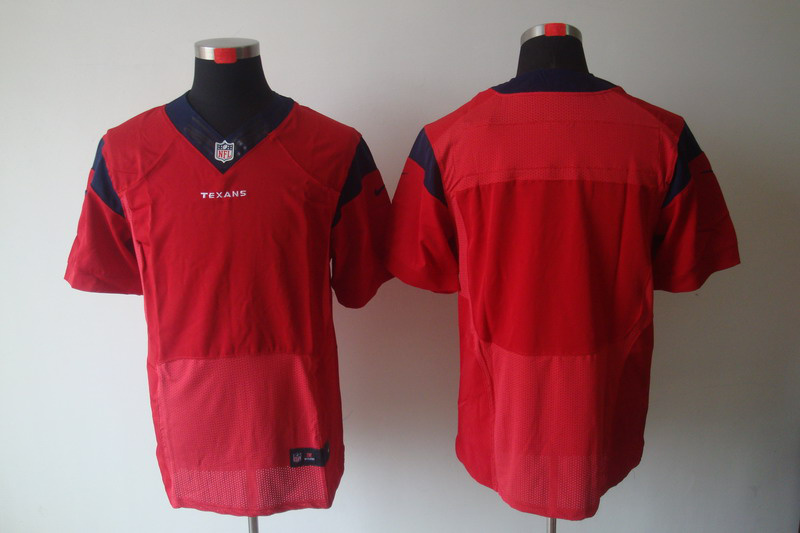 Nike Texans Blank Red Elite Jerseys