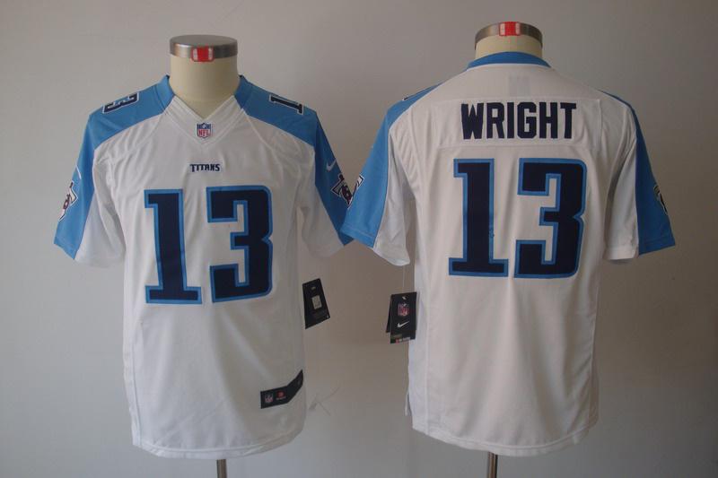 Nike Titans 13 Wright White Kids Limited Jerseys