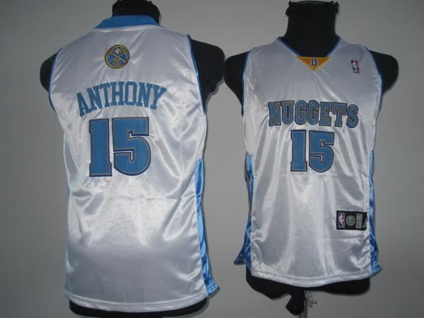 Nuggets 15 Anthony White Youth Jersey