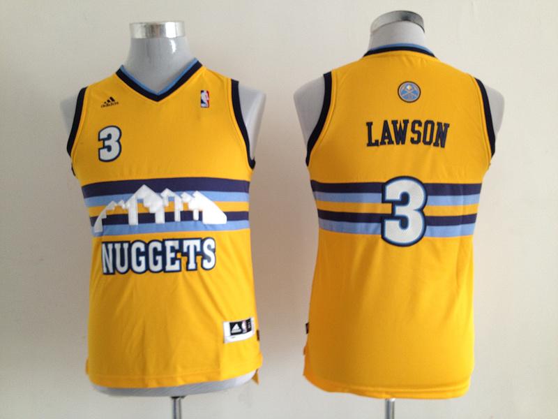 Nuggets 3 Lawson Revolution 30 Swingman Yellow Youth Jersey