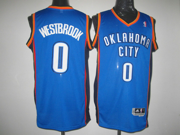 Oklahoma City Thunder 0 WESTBROOK blue AAA Jerseys