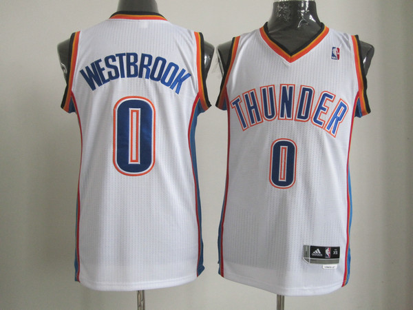 Oklahoma City Thunder 0 WESTBROOK white AAA Jerseys