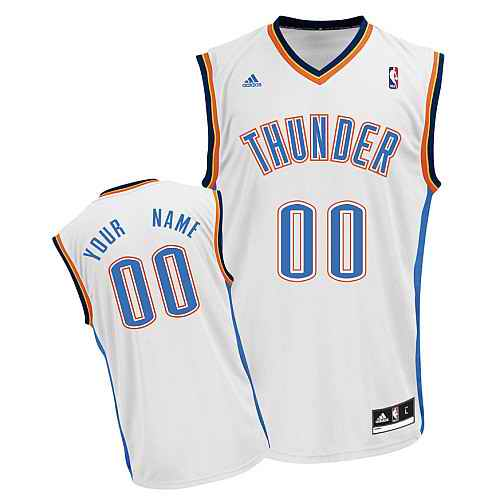 Oklahoma City Thunder Custom white adidas Home Jersey