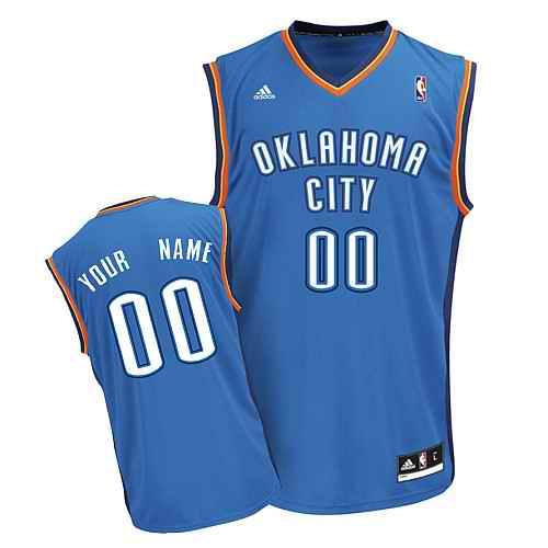 Oklahoma City Thunder Youth Custom blue Jersey