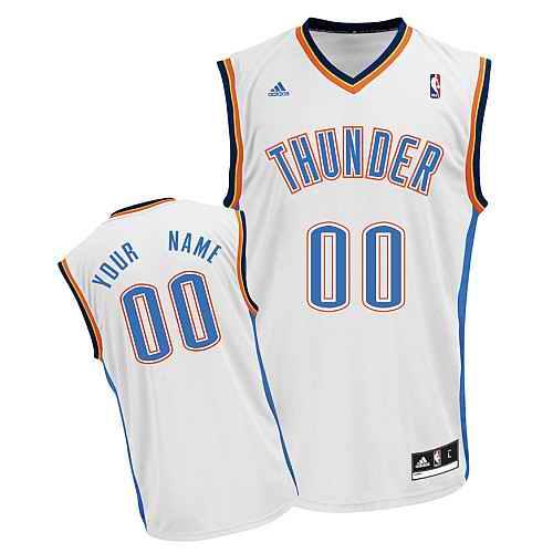 Oklahoma City Thunder Youth Custom white Jersey
