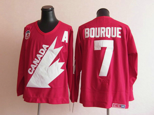 Olympic Team Canada 7 Bourque Red With A Patch CCM Jerseys