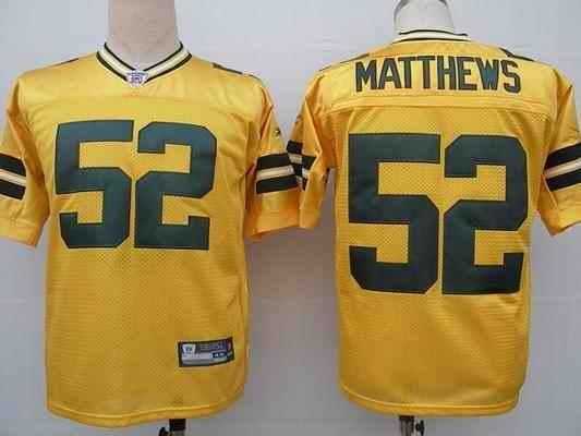 Packers 52 Clay Matthews yellow Jerseys
