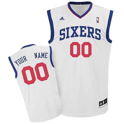 Philadelphia 76ers Youth Custom white Jersey
