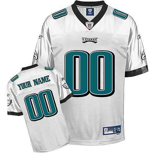Philadelphia Eagles Men Customized White Jersey