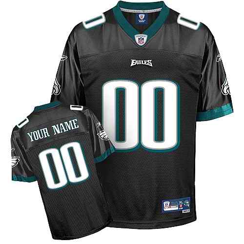 Philadelphia Eagles Men Customized black Jersey