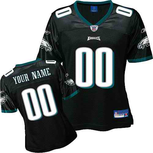 Philadelphia Eagles Women Customized Black Jersey