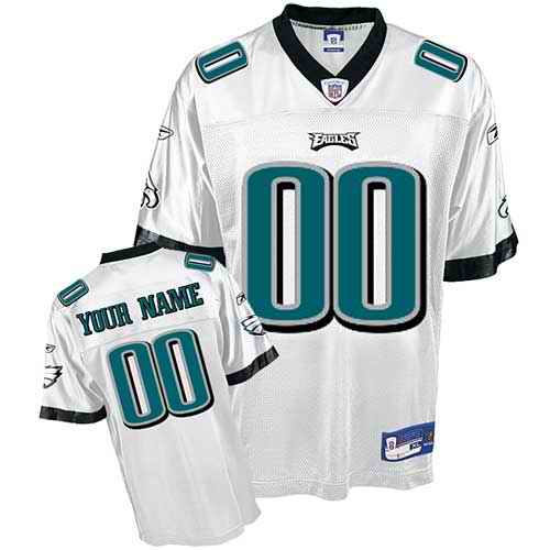 Philadelphia Eagles Youth Customized White Jersey