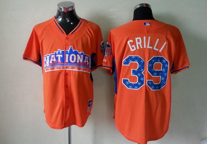 Pirates 39 Grilli orange 2013 All Star Jerseys