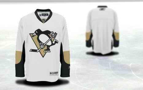 Pittsburgh Penguins Men Customized White Jersey
