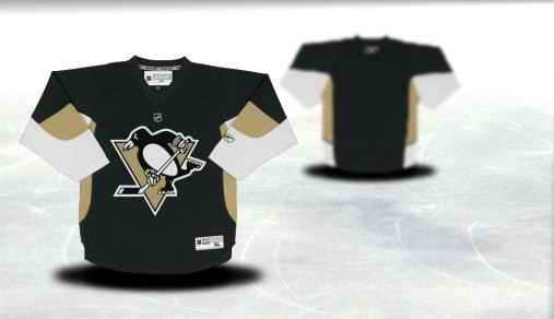 Pittsburgh Penguins Youth Customized Black Jersey