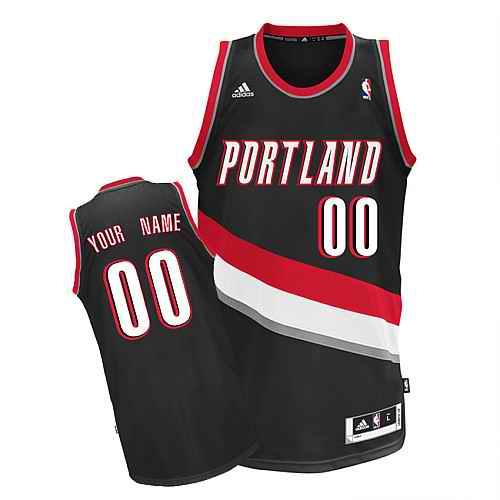 Portland Trail Blazers Custom Swingman black Road Jersey