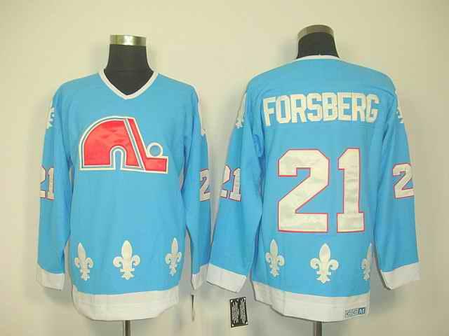 Quebec Nordiques 21 Forberg Lt.blue jerseys