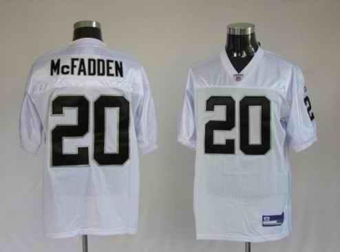 Raiders 20 Darren McFadden white Jerseys