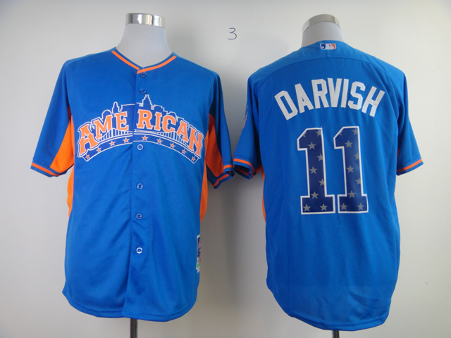 Rangers 11 Darvish blue 2013 All Star Jerseys