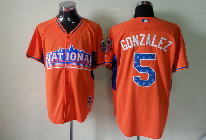 Rockies 5 Gonzalez orange 2013 All Star Jerseys