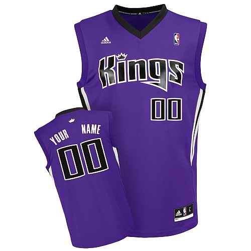 Sacramento Kings Custom purple adidas Road Jersey