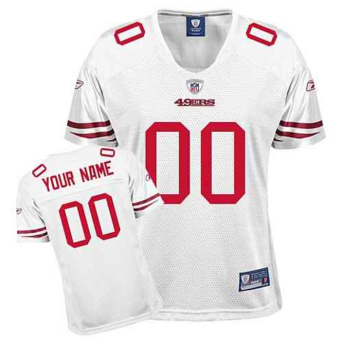 San Francisco 49ers Womem Customized White Jersey