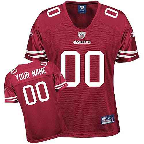 San Francisco 49ers Women Customized Red Jersey