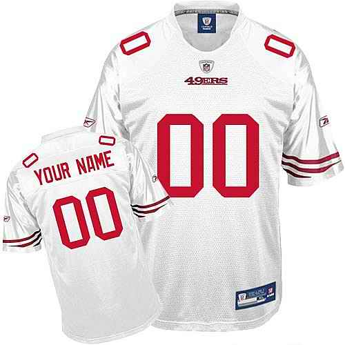 San Francisco 49ers Youth Customized White Jersey