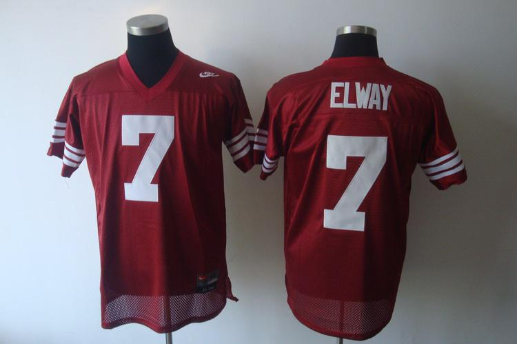 Standford Cardinals 7 Elway red Jerseys