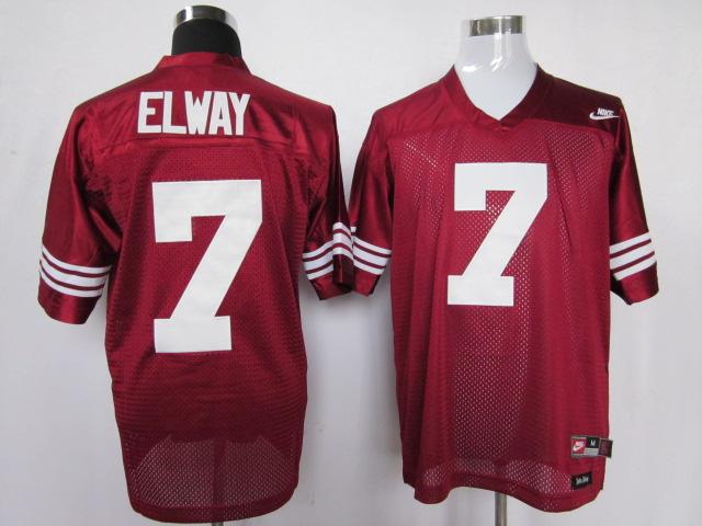 Stanford Cardinals 7 Elway Red Jerseys