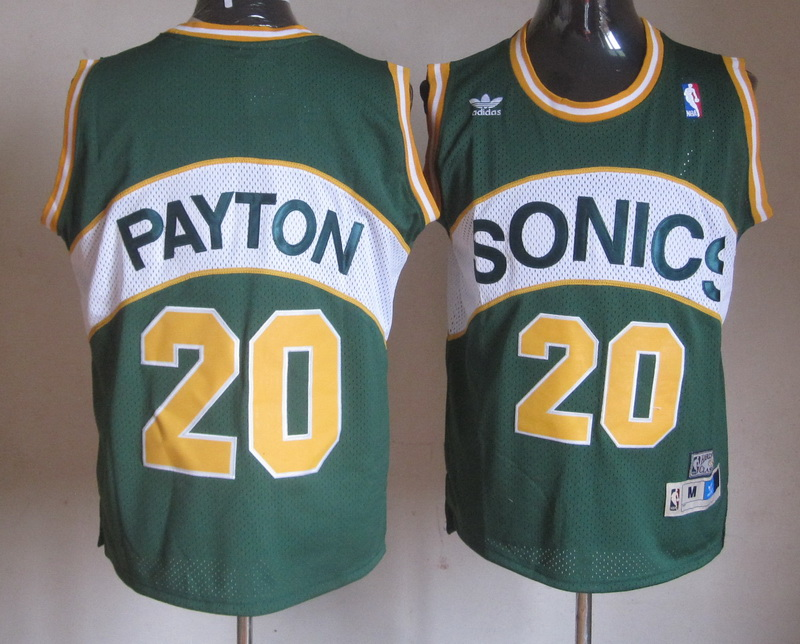 Supersonics 20 Payton Green Jerseys