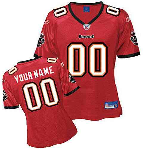 Tampa Bay Buccaneers Women Customized Red Jersey