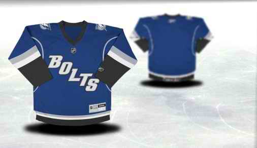 Tampa Bay Lightning Youth Customized Blue Third Jersey
