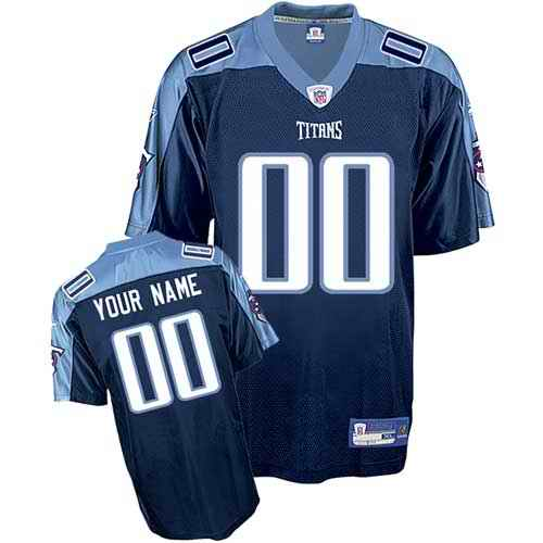 Tennessee Titans Men Customized dark blue Jersey