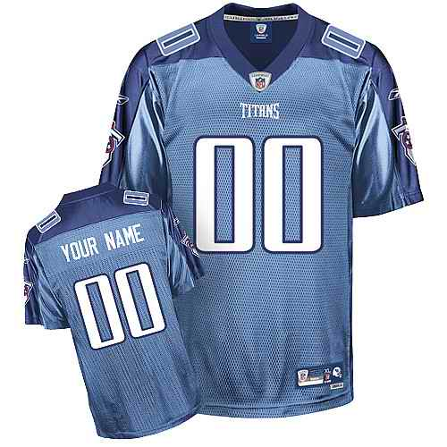 Tennessee Titans Men Customized light blue Jersey