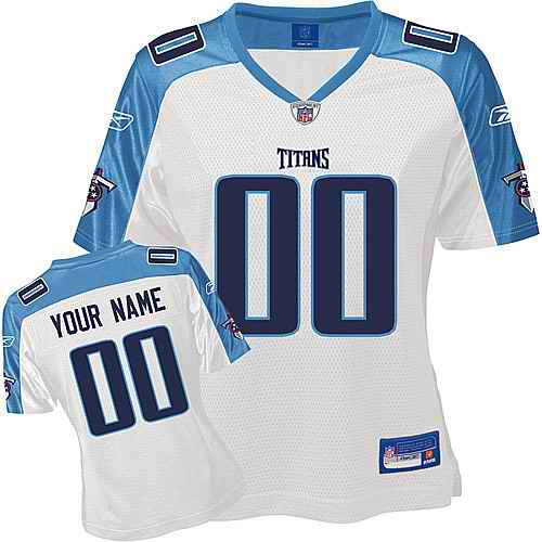 Tennessee Titans Women Customized White Jersey