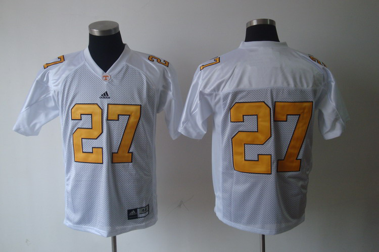 Tennessee VolsJerseys 27 White Jerseys