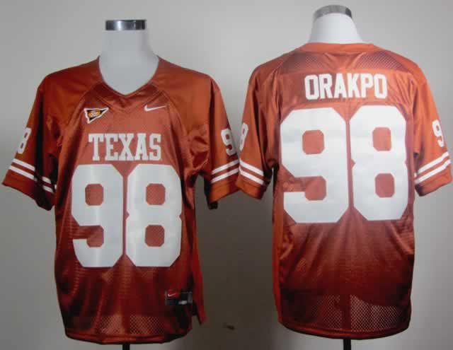 Texas Longhorns 98 Orakpo Burnt Orange Jerseys