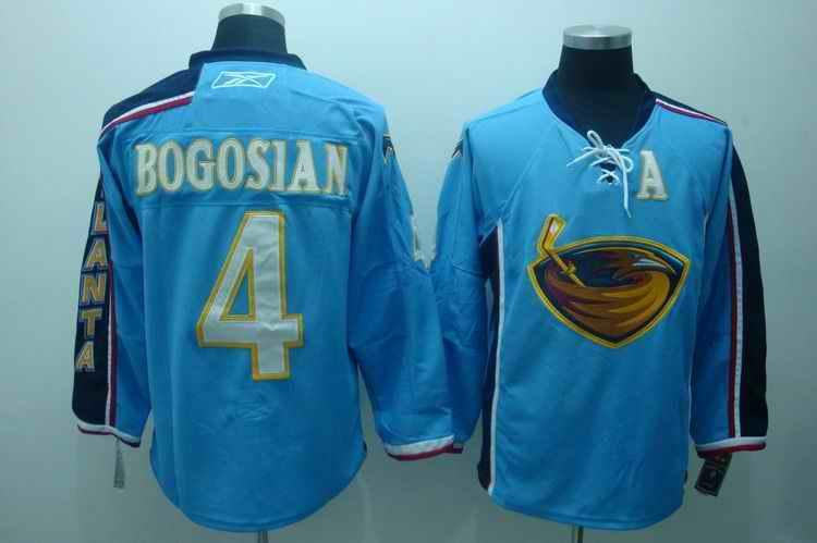 Thrashers 4 Bogosian light blue Jerseys