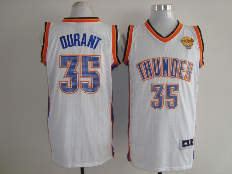 Thunder 35 Durant White Fianls Patch AAA Jerseys