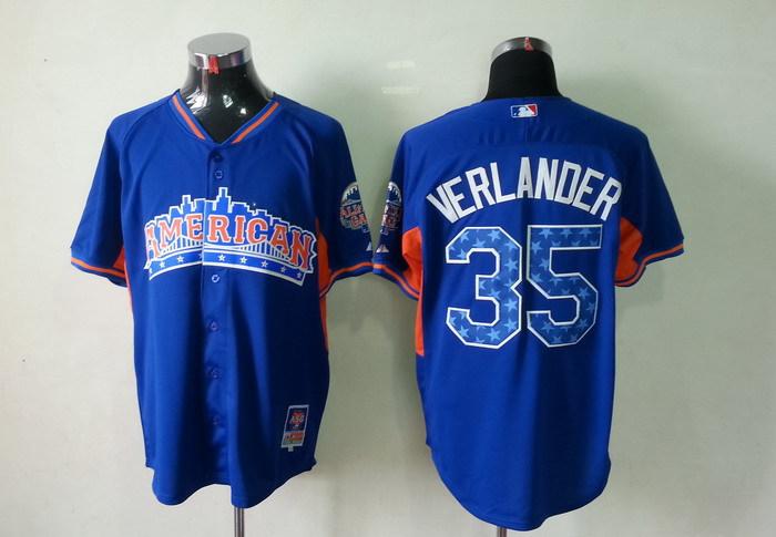 Tigers 35 Verlander blue 2013 All Star Jerseys