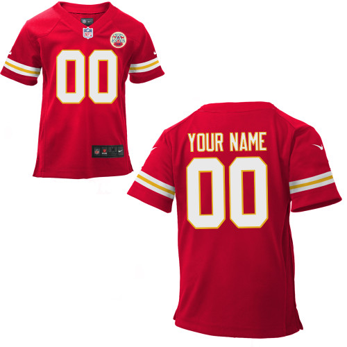Toddler Nike Kansas City Chiefs Customized Game Team Color Jersey